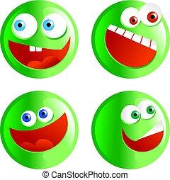 green smilies
