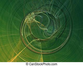 Green smoke - abstract
