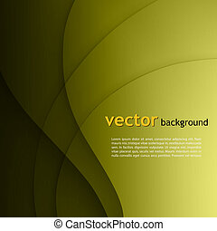Green smooth twist light lines vector background.