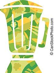 Green Smoothie Blender Illustration