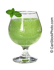 Green Smoothie - Five green vegetable and fruit (apple, ...