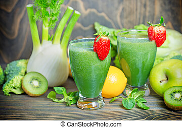 Green smoothie in our diet to boost immunity - healthy drink...