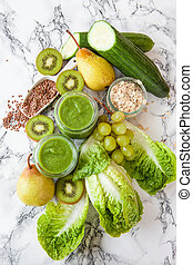 Green smoothie with kiwi