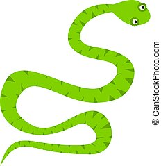 Green snake icon isolated