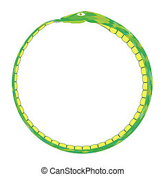 Green Snake Isolated