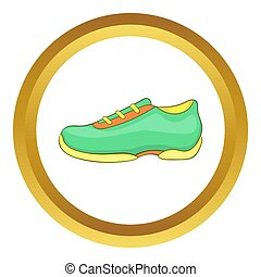 Green sneakers  icon