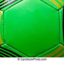 Green soccer ball background