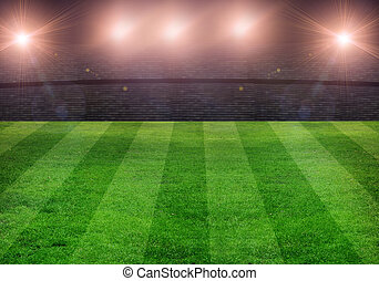 green soccer field