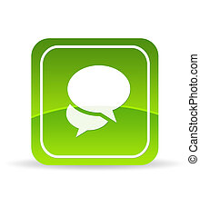 Green Social Media Icon - High resolution green Social Media...