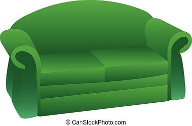 Green Sofa Vector Clipart Royalty Free 1 291 Green Sofa Clip Art