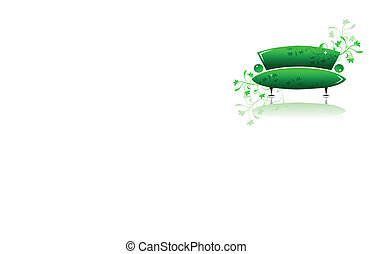 Green sofa design