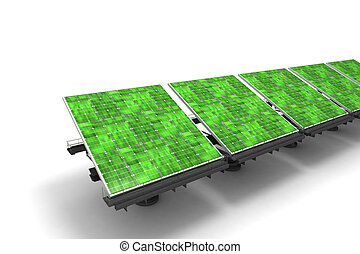 Green solar panels
