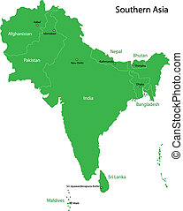 Green Southern Asia