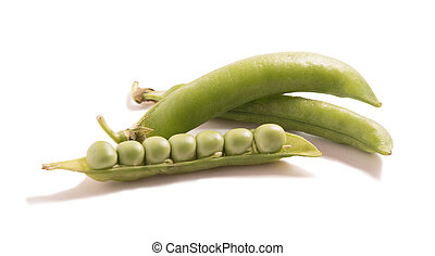 Green soybean isolated on white background