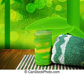Green Spa Background