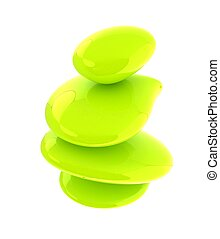 Green spa stones