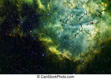 Green space on a dark background. Elements of this image were furnished by NASA.