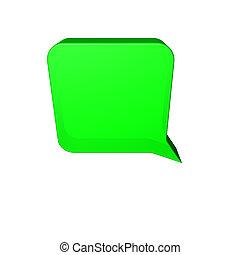 speech balloon - Green speech balloon
