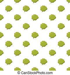 Green speech bubble pattern