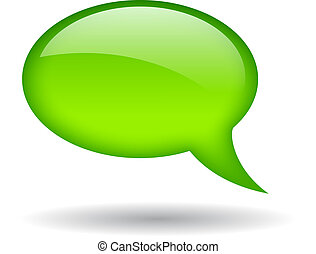 Green speech bubble, vector illustration
