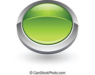 Green sphere button