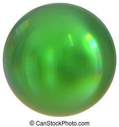 Green sphere round button ball basic circle geometric shape