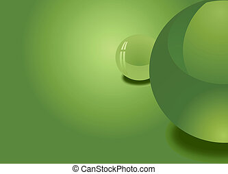 Green Spheres Background