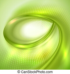 Green spiral abstract background.