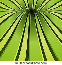Green spiral background. Flowing stripes forming a beautiful twist.
