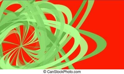 green spiral lines