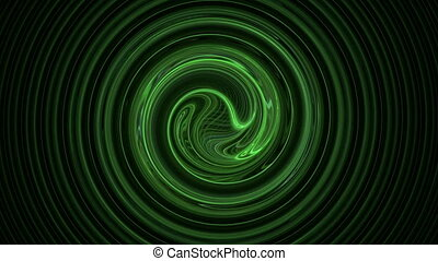 Green spiral pattern abstract motion background