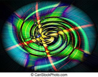 Green spiral wave