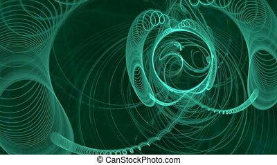 green spirals seamless looping bg
