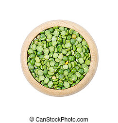 Green split peas.