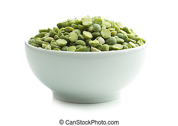 Green split peas in bowl.