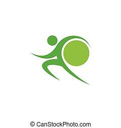 Green sportman and world