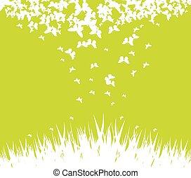 Green spring background