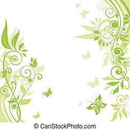 Green spring banner