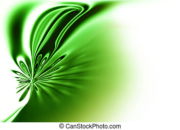 green spring ,dynamic green motion, abstract background -...