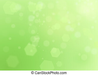Green spring natural background with bokeh and ray of lights