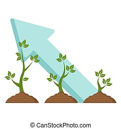 Green sprout growth icon vector illustration design