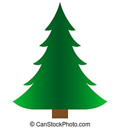 Green spruce icon. Isolated on a white background
