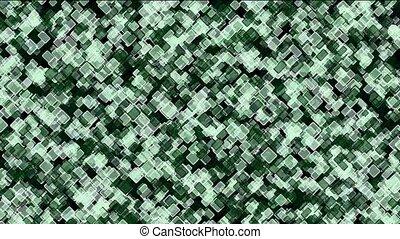 green square block mosaics wall