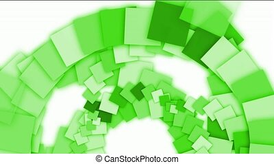 green square paper arch, computer tech web background.
