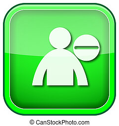 Green square shiny icon