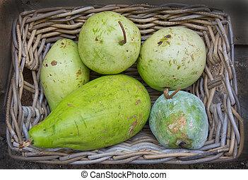 Green squash like fruits