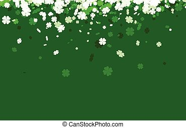 Green St. Patrick's day background.