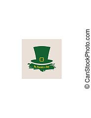 Green St. Patricks Day hat