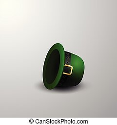 Green St. Patrick's Day hat isolated on white background
