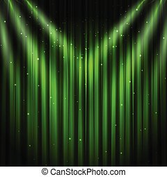 Green stage curtain background